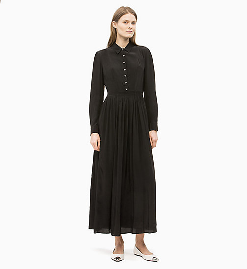 CALVIN KLEIN Long Sleeve Maxi Dress - BLACK - CALVIN KLEIN CLOTHES - main image