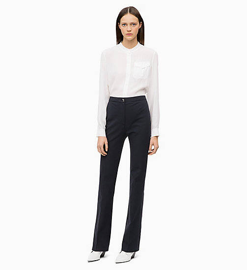 CALVIN KLEIN Light Viscose Blouse - CHALK - CALVIN KLEIN TOPS - detail image 1