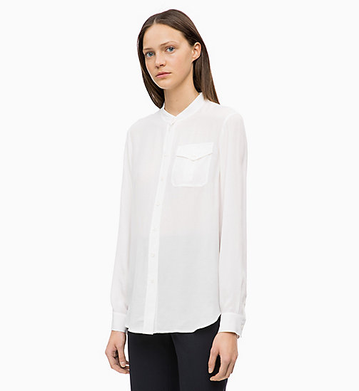 CALVIN KLEIN Light Viscose Blouse - CHALK - CALVIN KLEIN TOPS - main image