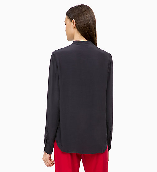 CALVINKLEIN Light Viscose Blouse - DEEP NAVY - CALVIN KLEIN INVEST IN COLOUR - detail image 1