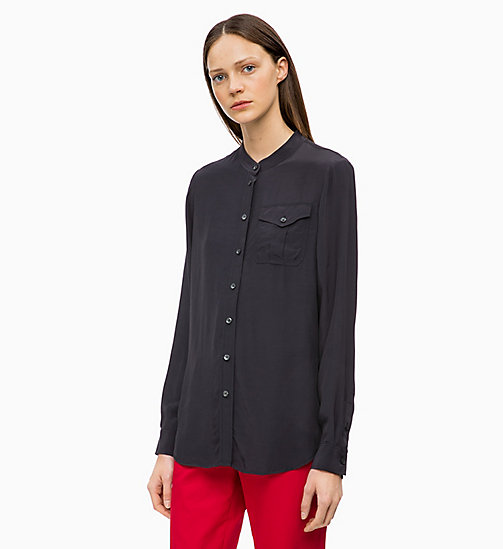 CALVINKLEIN Light Viscose Blouse - DEEP NAVY - CALVIN KLEIN INVEST IN COLOUR - main image