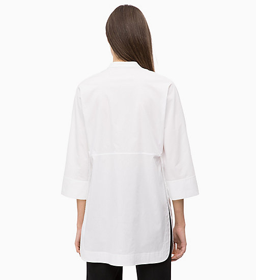 CALVINKLEIN Cotton Poplin Tunic Top - WHITE - CALVIN KLEIN INVEST IN COLOUR - detail image 1