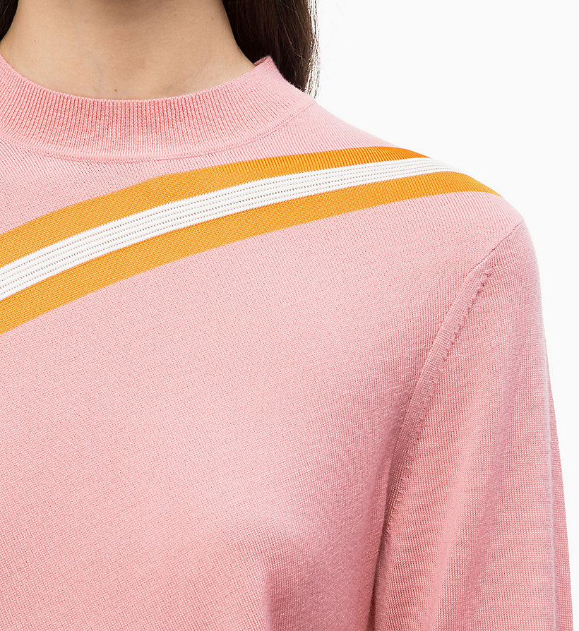 CALVIN KLEIN Wool Diagonal Stripe Jumper - PERFECT BLACK - CALVIN KLEIN WOMEN - detail image 3