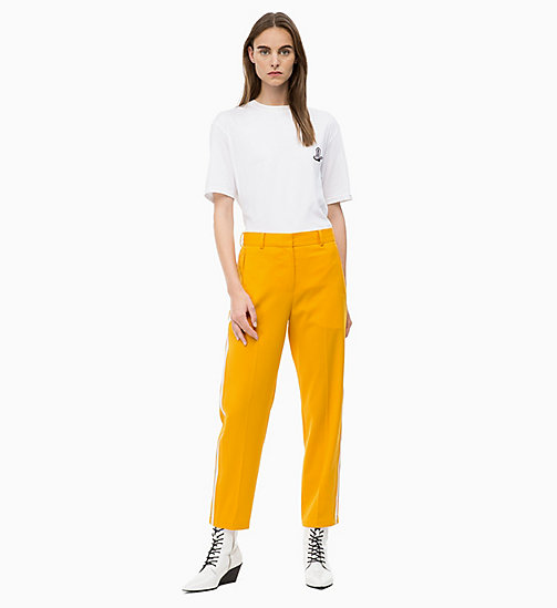 CALVIN KLEIN Wool Blend Side-Stripe Trousers - MARIGOLD - CALVIN KLEIN CALVIN KLEIN WOMENSWEAR - detail image 1