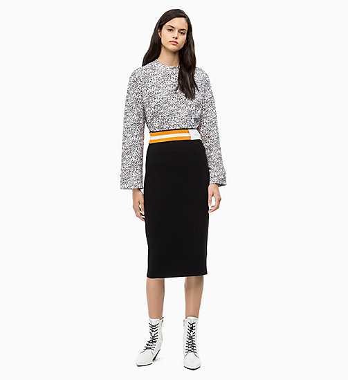 CALVIN KLEIN Rib-Knit Pencil Skirt - PERFECT BLACK - CALVIN KLEIN CALVIN KLEIN WOMENSWEAR - detail image 1