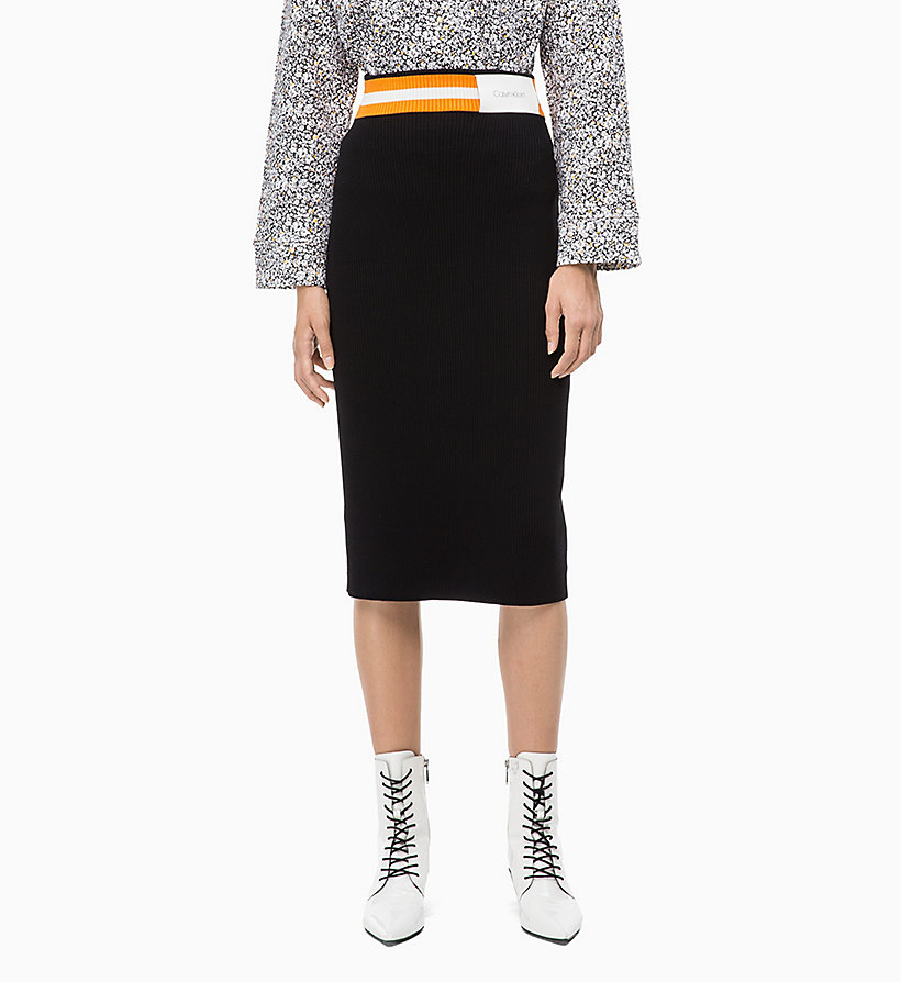 CALVIN KLEIN Rib-Knit Pencil Skirt - DEEP AZURE - CALVIN KLEIN WOMEN - main image