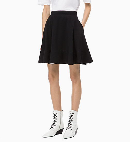 CALVIN KLEIN Twill flared rok - PERFECT BLACK - CALVIN KLEIN CALVIN KLEIN WOMENSWEAR - main image