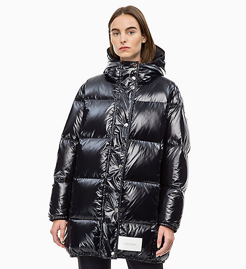 CALVIN KLEIN Hooded Down Puffer Coat - PERFECT BLACK - CALVIN KLEIN CALVIN KLEIN WOMENSWEAR - main image