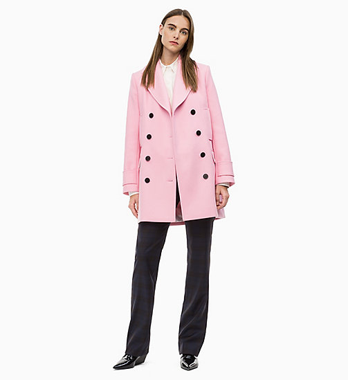 CALVIN KLEIN Structured Wool Pea Coat - BLUSH - CALVIN KLEIN CALVIN KLEIN WOMENSWEAR - detail image 1