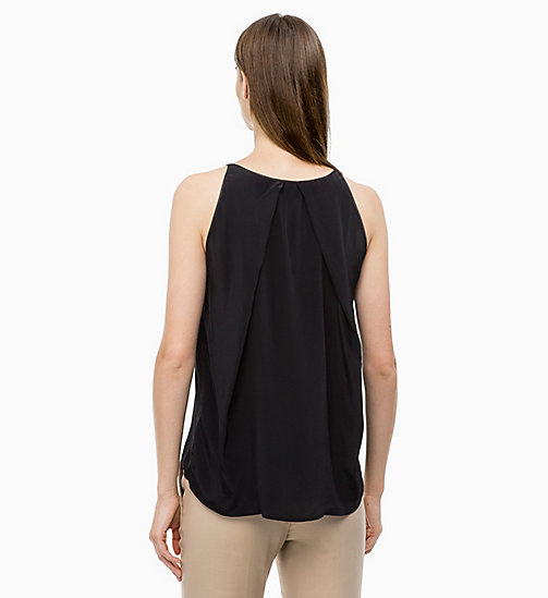 CALVINKLEIN Drape Back Top - BLACK - CALVIN KLEIN TOPS - detail image 1