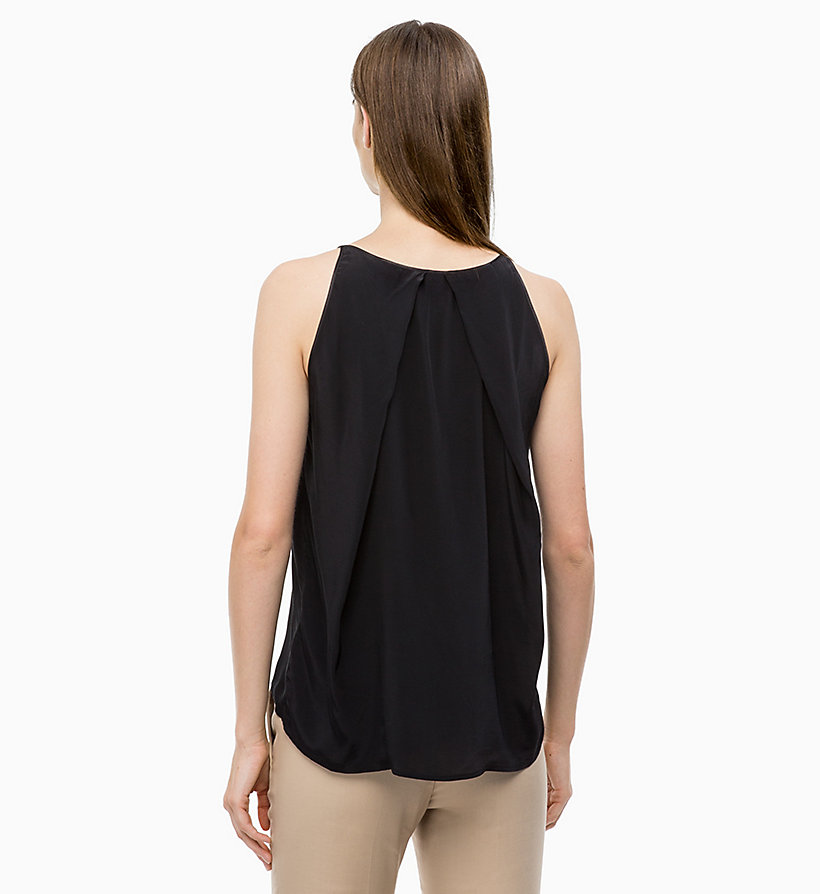 CALVINKLEIN Drape Back Top - CHALK - CALVIN KLEIN WOMEN - detail image 1