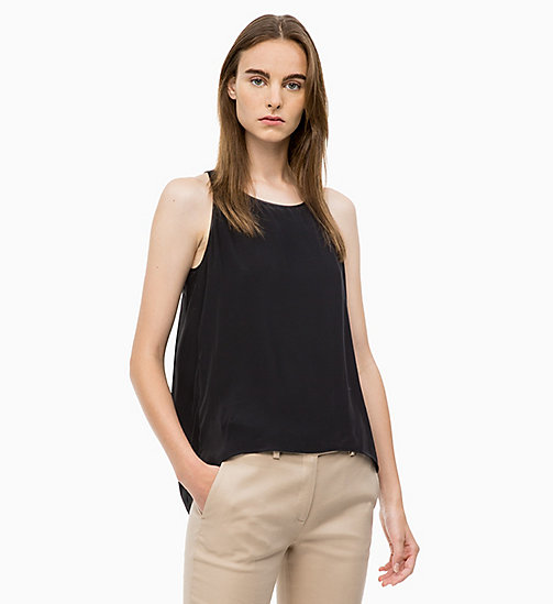 CALVINKLEIN Drape Back Top - BLACK - CALVIN KLEIN TOPS - main image