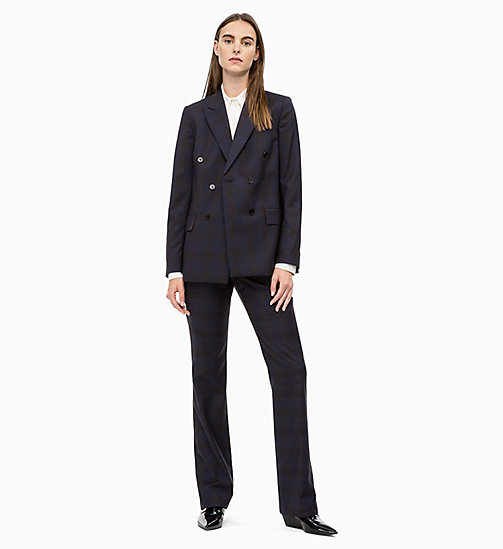CALVIN KLEIN Wool Check Trousers - MIDNIGHT COWBOY CHECK - CALVIN KLEIN CALVIN KLEIN WOMENSWEAR - detail image 1