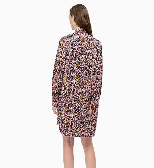 CALVIN KLEIN Cotton Printed Shirt Dress - BLUSH FLORAL LARGE - CALVIN KLEIN CALVIN KLEIN WOMENSWEAR - detail image 1