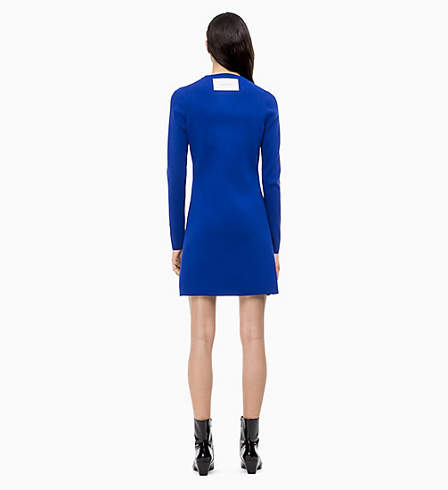CALVIN KLEIN Long Sleeve Sweater Dress - INDUSTRIAL BLUE - CALVIN KLEIN CALVIN KLEIN WOMENSWEAR - detail image 1