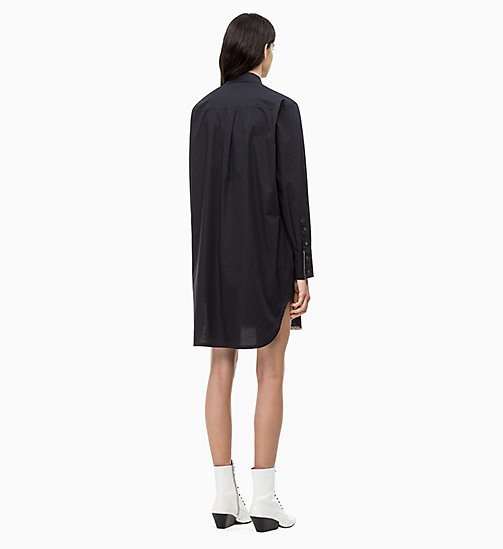 CALVIN KLEIN Cotton Shirt Dress - PERFECT BLACK - CALVIN KLEIN CALVIN KLEIN WOMENSWEAR - detail image 1