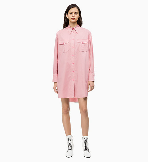 CALVIN KLEIN Cotton Shirt Dress - BLUSH - CALVIN KLEIN CALVIN KLEIN WOMENSWEAR - main image