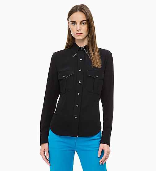 CALVIN KLEIN Twill Police Pocket Shirt - PERFECT BLACK - CALVIN KLEIN CALVIN KLEIN WOMENSWEAR - main image