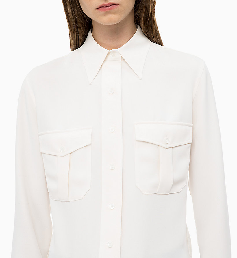 CALVIN KLEIN Twill Police Pocket Shirt - PERFECT BLACK - CALVIN KLEIN WOMEN - detail image 2