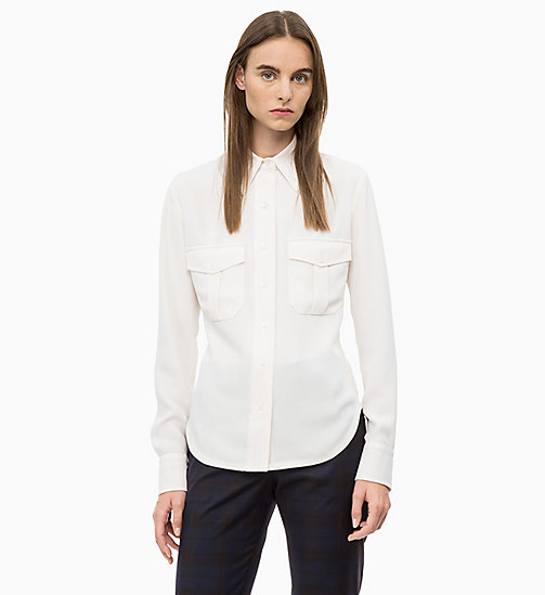 CALVIN KLEIN Twill Police Pocket Shirt - SEA SALT - CALVIN KLEIN CALVIN KLEIN WOMENSWEAR - main image