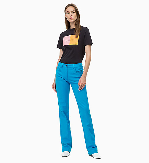CALVIN KLEIN Cotton Stretch Bootcut Trousers - DEEP AZURE - CALVIN KLEIN CALVIN KLEIN WOMENSWEAR - detail image 1