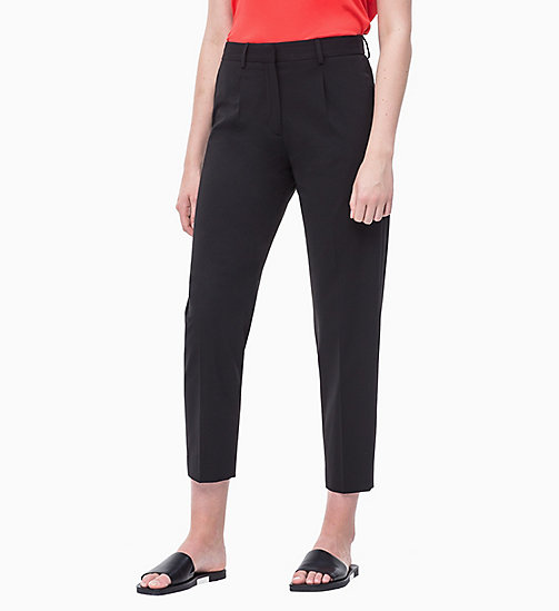 CALVIN KLEIN Crepe Tapered Trousers - PERFECT BLACK - CALVIN KLEIN NEW IN - main image