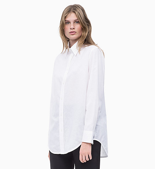 CALVIN KLEIN Oxford Cotton Boyfriend Shirt - BRIGHT WHITE - CALVIN KLEIN NEW IN - main image