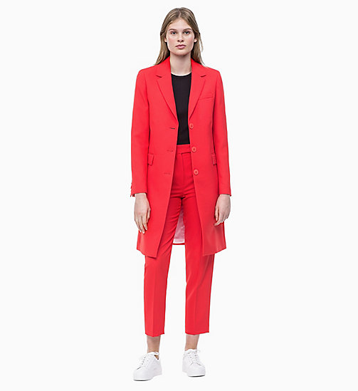 CALVIN KLEIN Kurzmantel aus Twill - CHERRY RED - CALVIN KLEIN NEW IN - main image 1