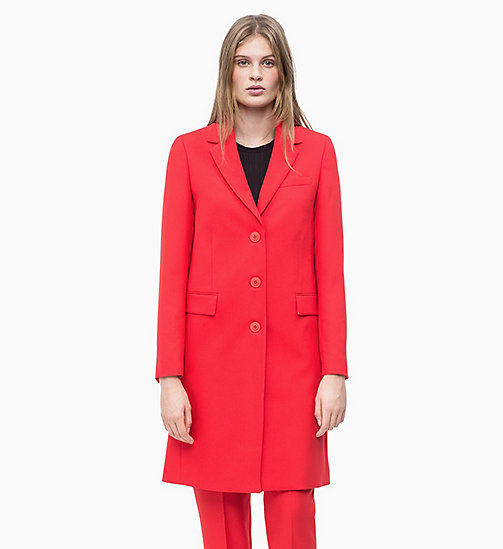 CALVIN KLEIN Kurzmantel aus Twill - CHERRY RED - CALVIN KLEIN NEW IN - main image
