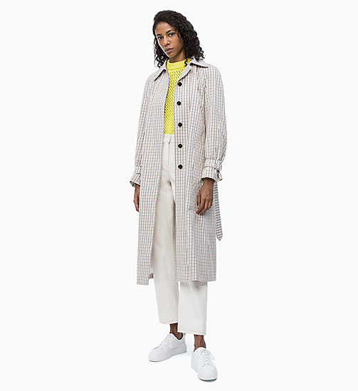 CALVIN KLEIN Check Belted Coat - WINDOW PANE CHECK - CALVIN KLEIN NEW IN - detail image 1