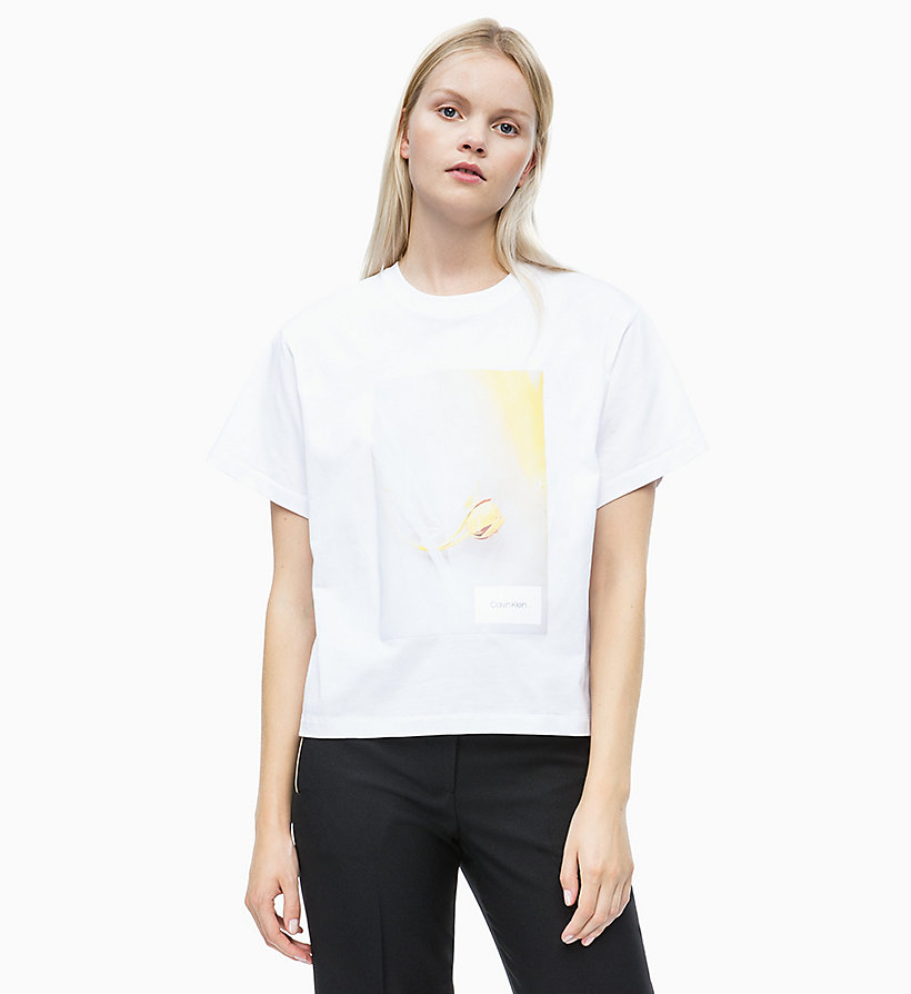 Stampa Calvin Shirt Da Con Donna A Klein Fiori T vwR16nqSS