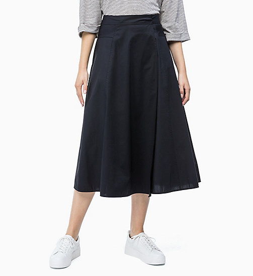 CALVIN KLEIN Flared Wrap Skirt - PERFECT BLACK - CALVIN KLEIN NEW IN - main image