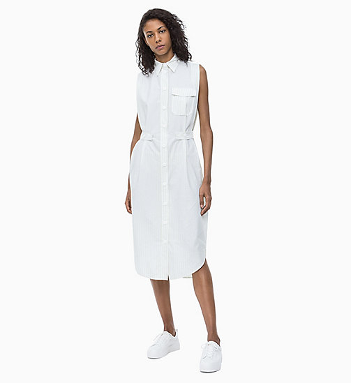 CALVIN KLEIN Stripe Shirt Dress - WHITE / LEMONADE STRIPE - CALVIN KLEIN NEW IN - main image