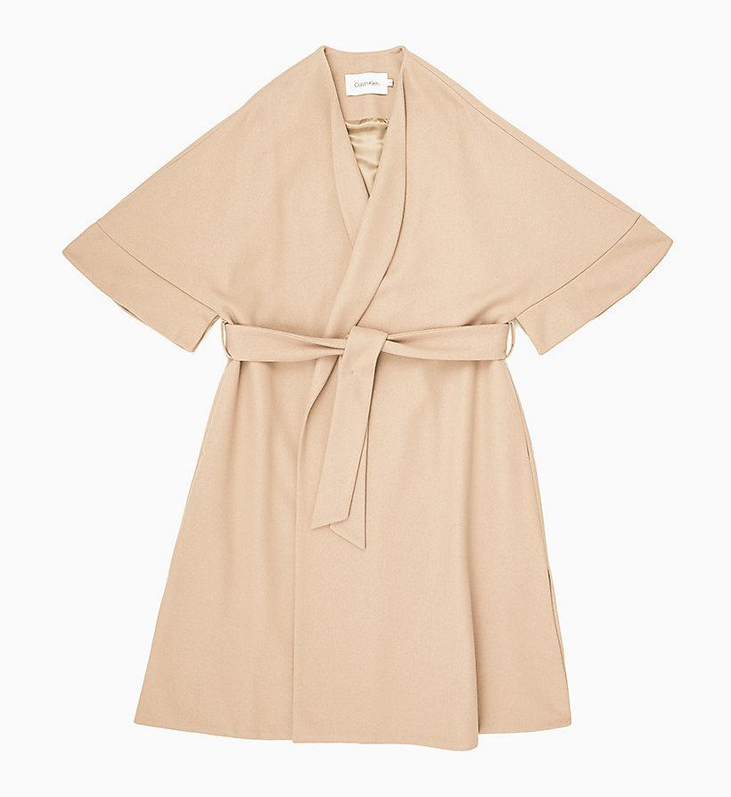 special discount fine craftsmanship factory price Wool Cashmere Wrap Coat CALVIN KLEIN® | K20K200918020