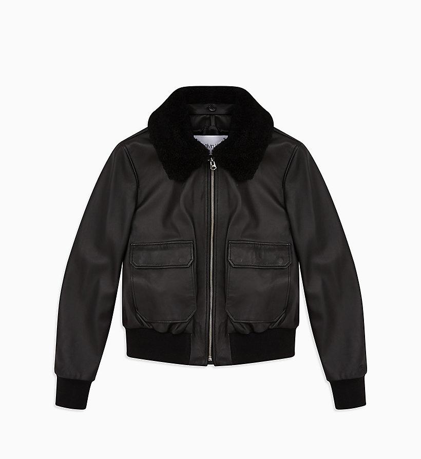 Lederjacke Mit Kragen Shearling Calvin Klein®K20k201430bds DEHW2IY9