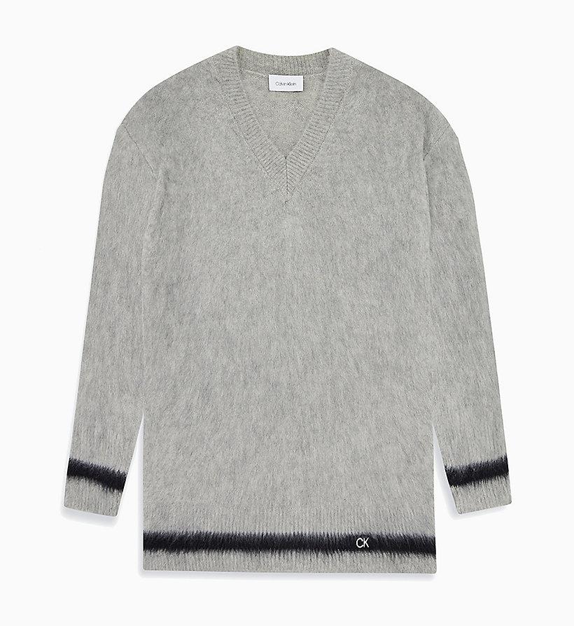 Pullover aus gebürsteter Wolle mit V Ausschnitt