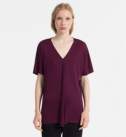 CALVINKLEIN Jersey Draped Front Top - WILDBERRY - CALVIN KLEIN FEELING FESTIVE - main image