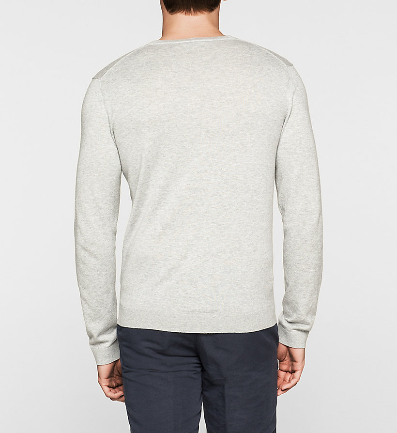 CALVINKLEIN Silk-blend Sweater - BLACK - CALVIN KLEIN MEN - detail image 3
