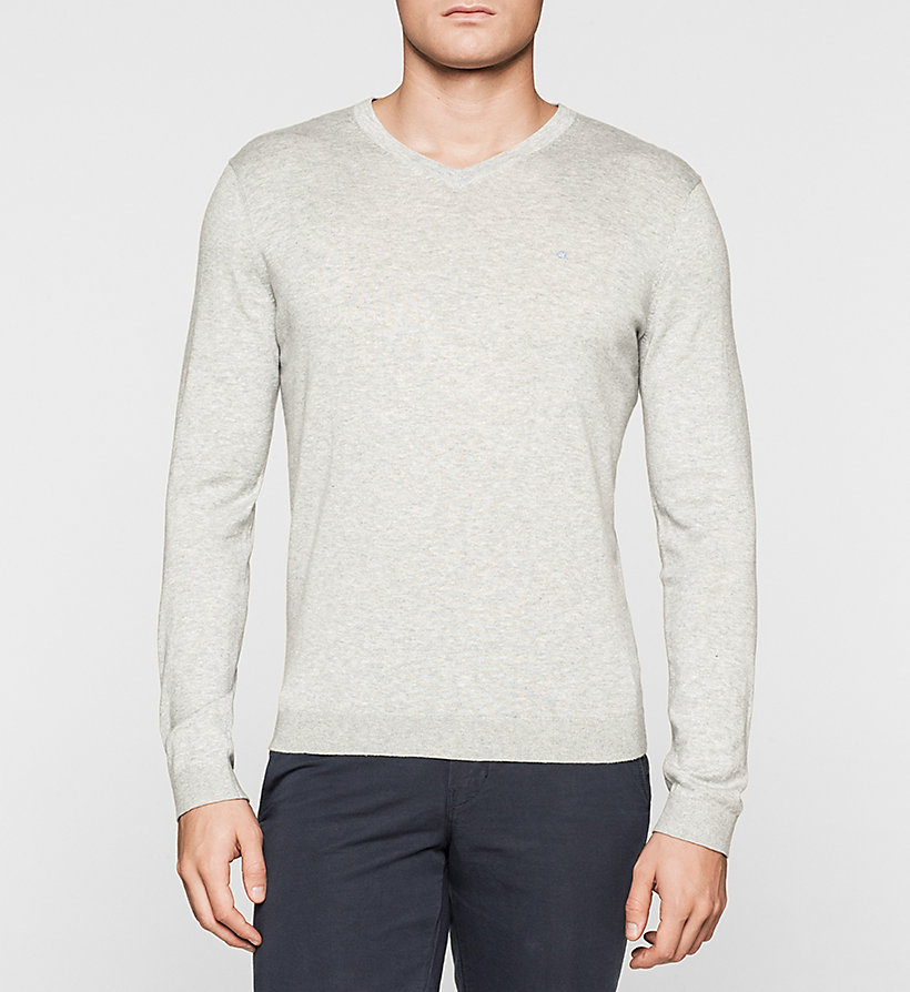 CALVINKLEIN Silk-blend Sweater - BLACK - CALVIN KLEIN MEN - main image