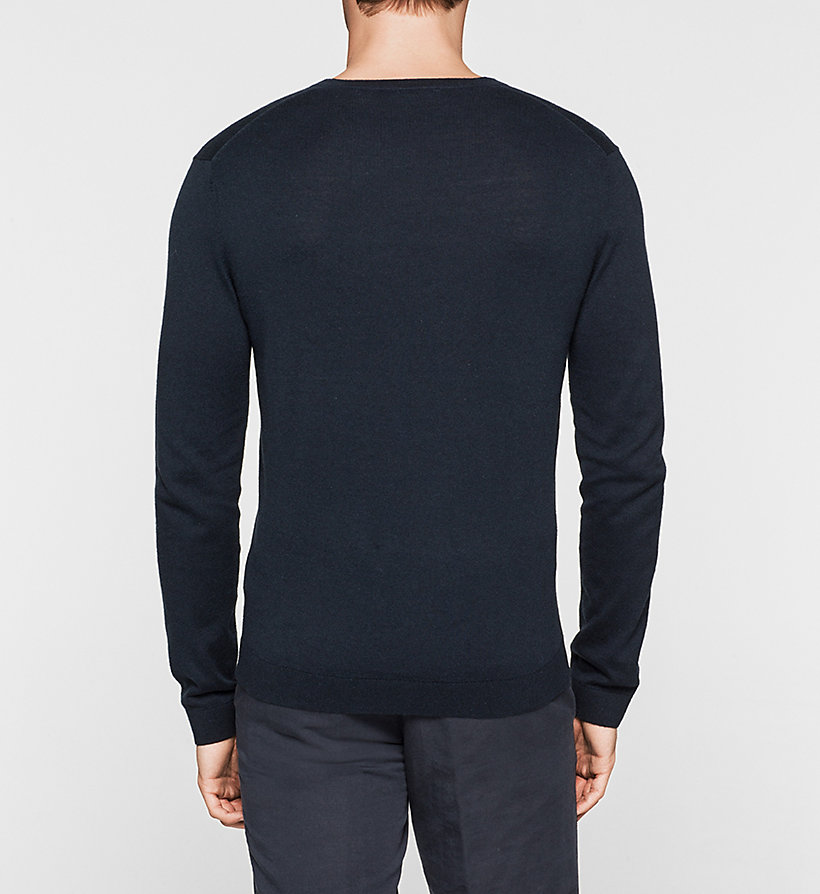 CALVINKLEIN Silk-blend Sweater - LIGHT GREY - CALVIN KLEIN MEN - detail image 3