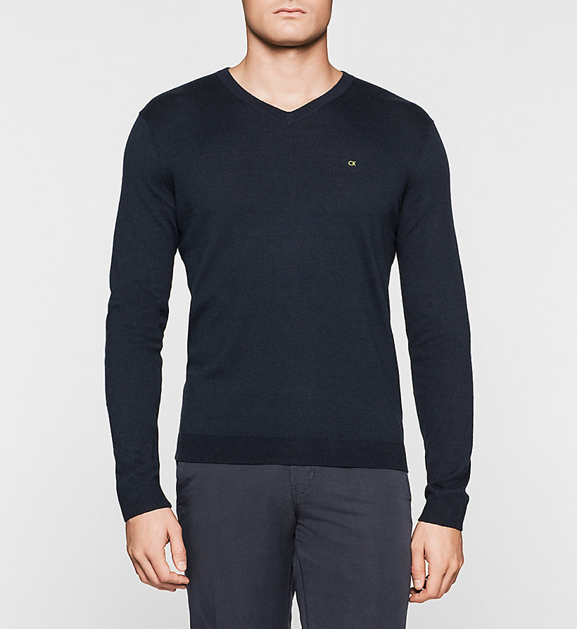 CALVINKLEIN Silk-blend Sweater - LIGHT GREY - CALVIN KLEIN MEN - main image
