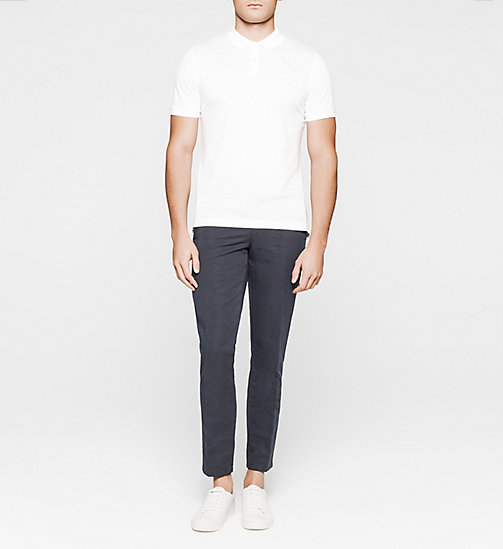 CALVINKLEIN Fitted Pima Cotton Polo - WHITE - CALVIN KLEIN CLOTHES - detail image 1