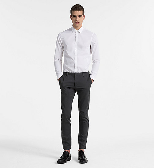 CALVINKLEIN Extra Slim Dress Shirt - WHITE - CALVIN KLEIN EXTRA SLIM - detail image 1