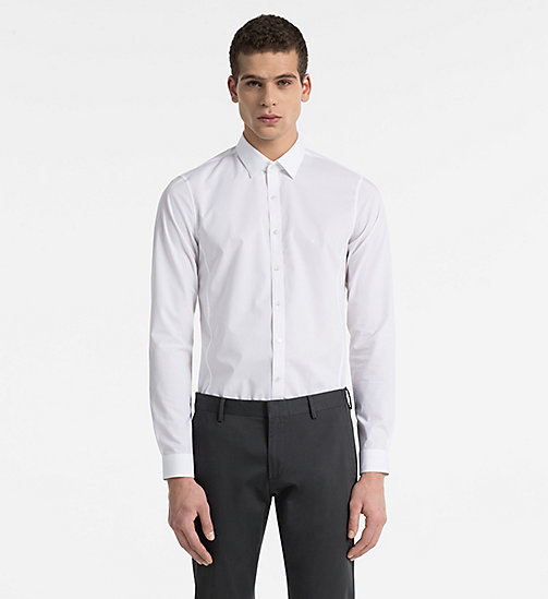 CALVINKLEIN Extra Slim Dress Shirt - WHITE - CALVIN KLEIN EXTRA SLIM - main image