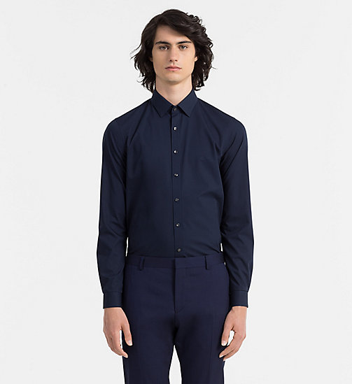 CALVINKLEIN Extra Slim Dress Shirt - MIDNIGHT BLUE - CALVIN KLEIN SHIRTS - main image