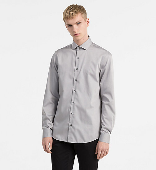 CALVINKLEIN Fitted Dress Shirt - MERCURY - CALVIN KLEIN CLOTHES - main image