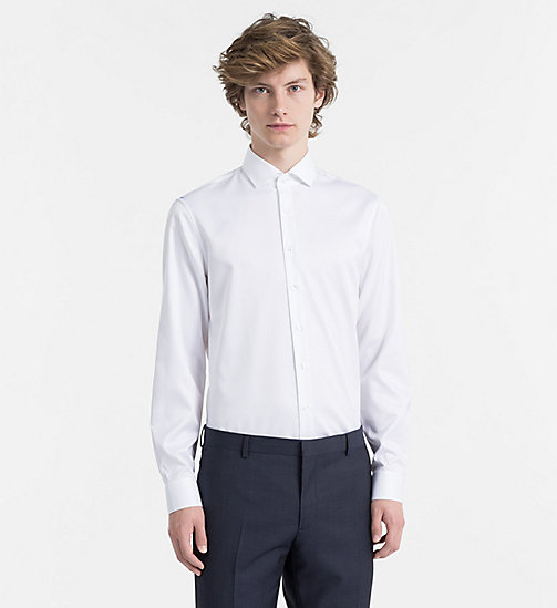 CALVINKLEIN Fitted Dress Shirt - WHITE - CALVIN KLEIN CLOTHES - main image