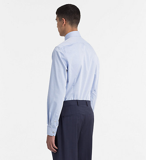CALVINKLEIN Fitted Dress Shirt - BLUE - CALVIN KLEIN CLOTHES - detail image 1