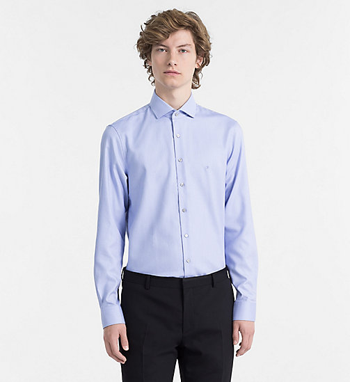 CALVINKLEIN Fitted Dress Shirt - BLUE - CALVIN KLEIN CLOTHES - main image