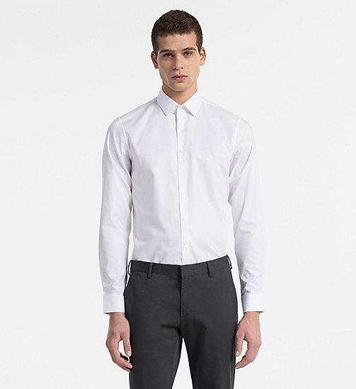 CALVINKLEIN Slim Dress Shirt - WHITE - CALVIN KLEIN CLOTHES - main image